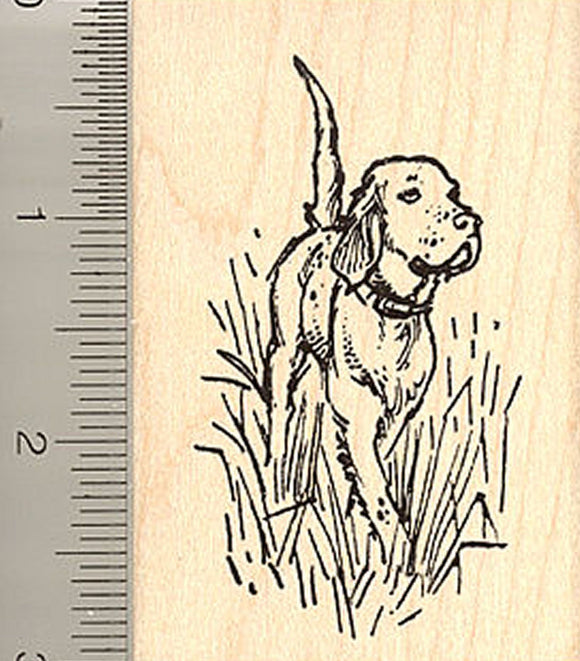 English Setter Rubber Stamp