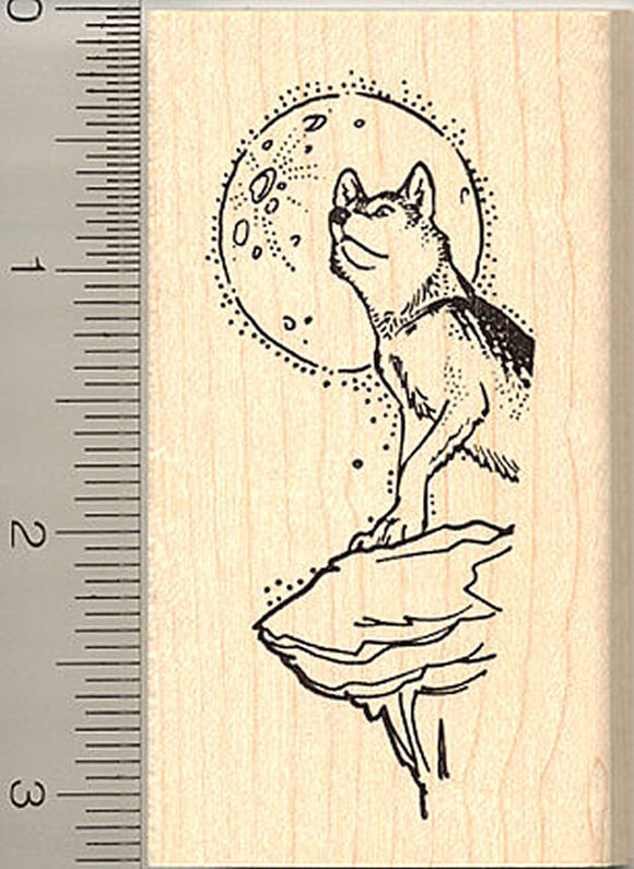 Timber Wolf Rubber Stamp