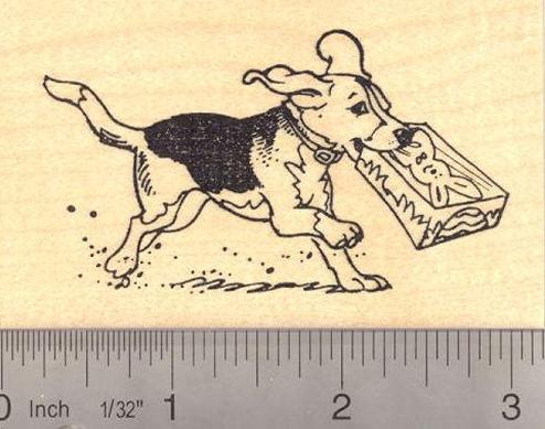 Easter Beagle Rubber Stamp