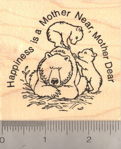 Mother Bear with Cubs - Mother's Day Rubber Stamp
