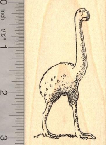 Moa Bird Rubber Stamp (Extinct Megafauna)