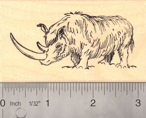 Woolly Rhinoceros Rubber Stamp (Extinct Megafauna)