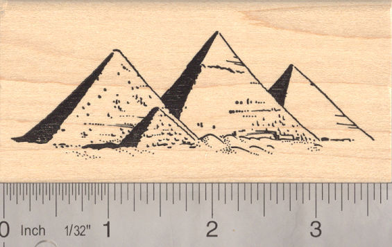Pyramids of Giza Rubber Stamp