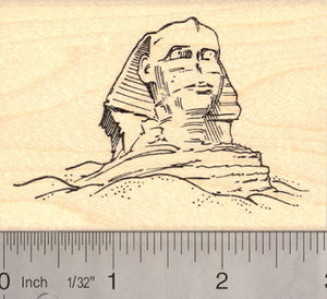 Great Sphinx of Giza, Egyptian Rubber Stamp
