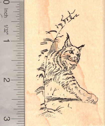 Lynx Wildcat Rubber Stamp Bobcat
