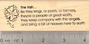 The Irish: Be they kings, or poets, or farmers… Word Rubber Stamp