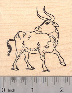 Auroch, Large European Bull Rubber Stamp, Cattle ancestor