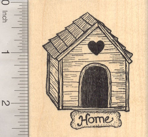Dog House Rubber Stamp