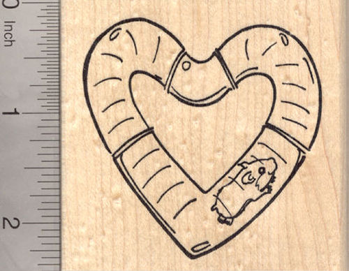 Valentine's Day Hamster Rubber Stamp