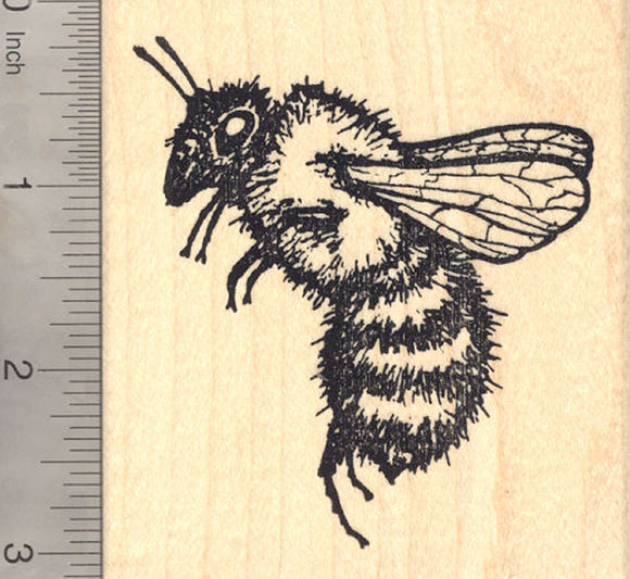 Extra Large Bee Rubber Stamp