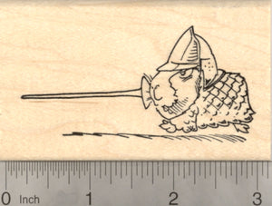 Guinea Pig Jousting Knight Rubber Stamp, Medieval, Renaissance Festival