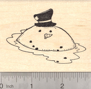 Melting Snowman Rubber Stamp, Holiday Season