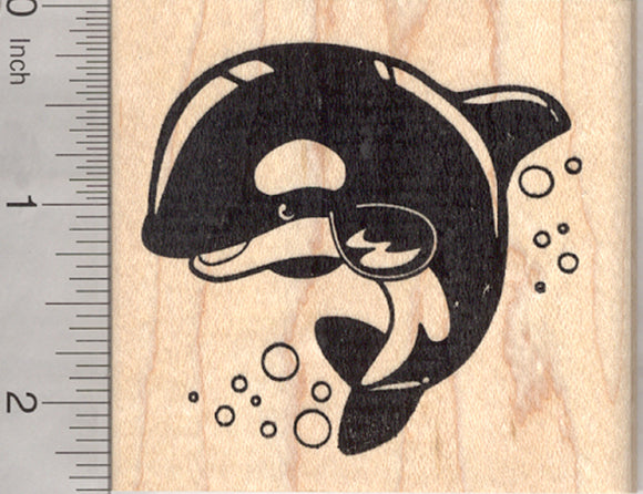 Killer Whale Rubber Stamp, Orca, Blackfish, Marine Wildlife