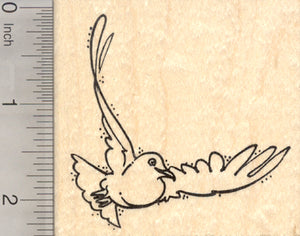 White Dove Rubber Stamp, Symbol of Peace and of Love