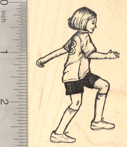 Soccer Player Rubber Stamp, Association Football