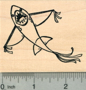 Shark Kite Rubber Stamp