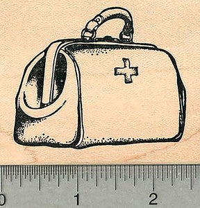 "Medical Bag Rubber Stamp, 1 7/8"" tall, Healthcare Heroes Series"