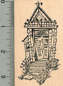Haunted House Rubber Stamp, Halloween Hauntings Series