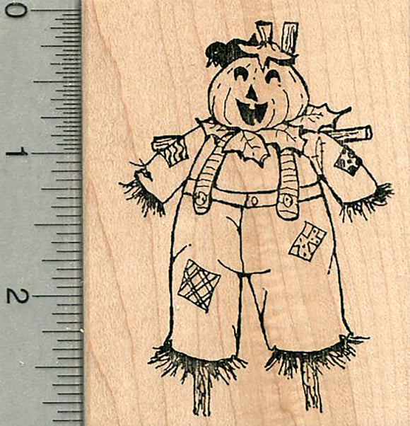Halloween Scarecrow Rubber Stamp