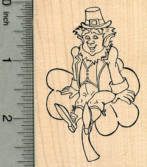 Leprechaun Rubber Stamp, St. Patrick's Day Series