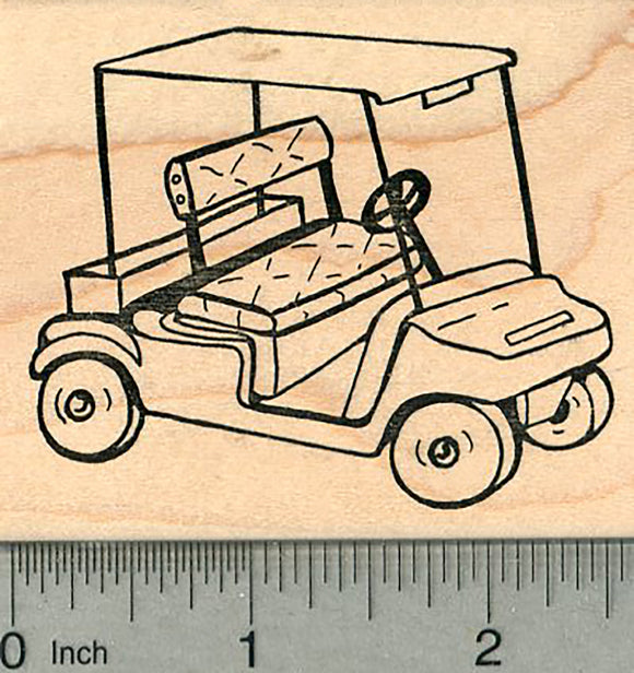 Golf Cart Rubber Stamp, Golfing Series