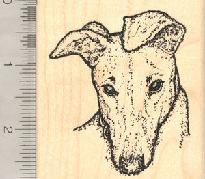Greyhound Dog Rubber Stamp