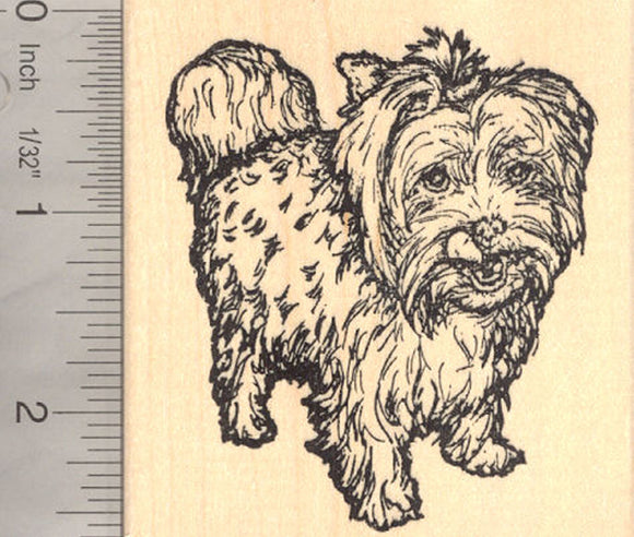 Yorkshire Terrier Dog (Anabella) Rubber Stamp