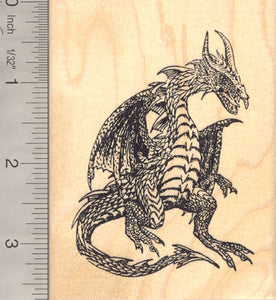Large Dragon Rubber Stamp