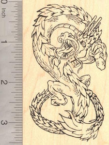 Large Chinese Dragon Rubber Stamp, Year of the Dragon