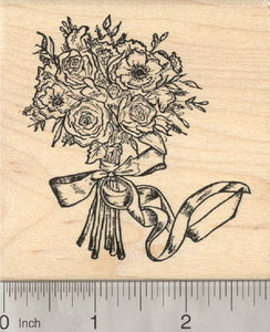 Bridal Bouquet Rubber Stamp, Mother's Day, Wedding Flowers