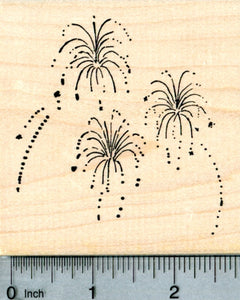 Fireworks Rubber Stamp, 4th of July, Guy Fawkes, Diwali