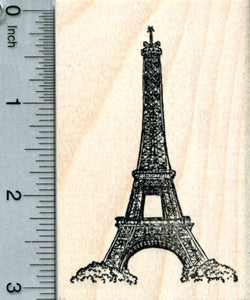 Eiffel Tower Rubber Stamp, Paris France, World Travel Series