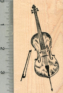 Cello Rubber Stamp, String Musical Instrument Series