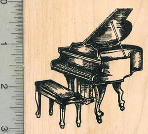 Grand Piano Rubber Stamp, Stringed Musical Instrument Series
