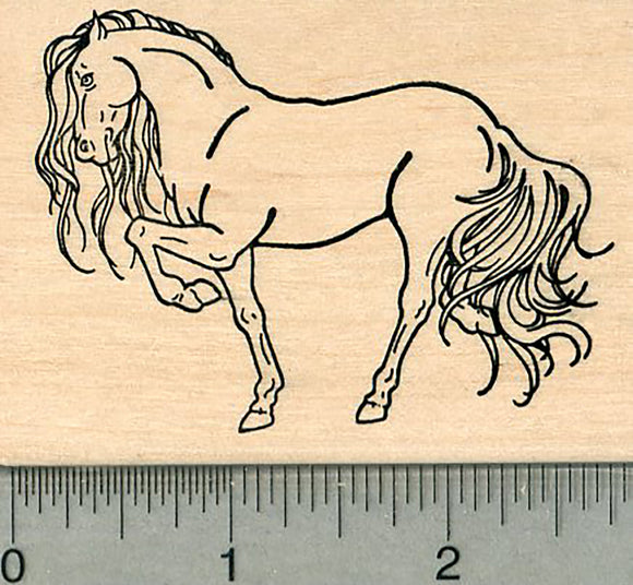 Horse Rubber Stamp, High Stepping Pose