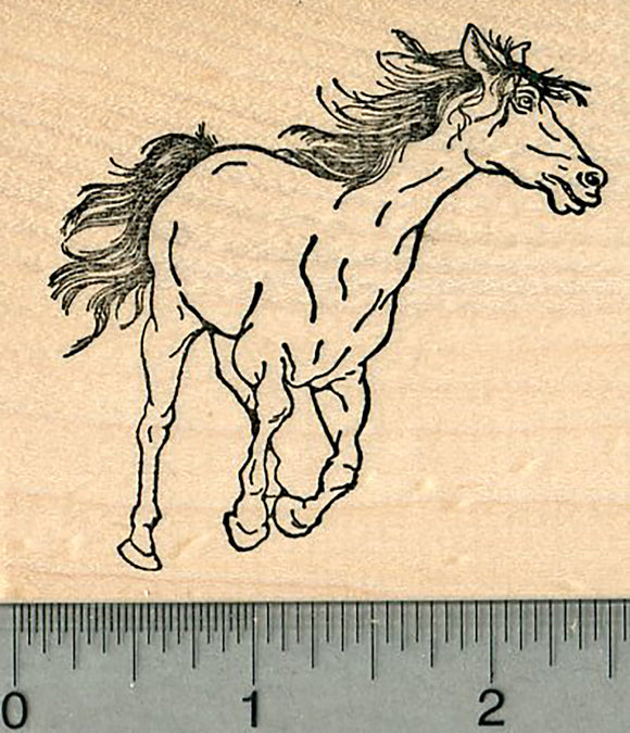 Horse Rubber Stamp, Galloping Pose