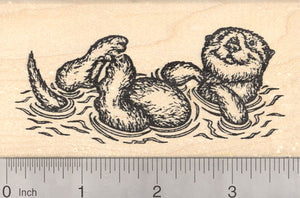 Sea Otter Rubber Stamp, Floating