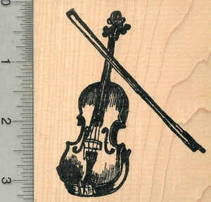 Violin Rubber Stamp, String Musical Instrument Series