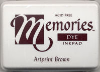 Memories Dye Ink Pad - Artprint Brown