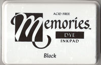 Memories Dye Ink Pad - Black