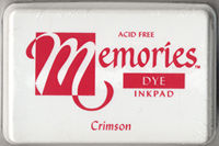 Memories Dye Ink Pad - Crimson