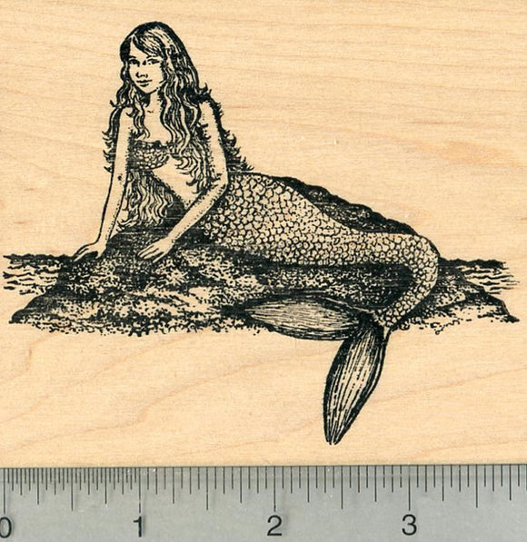 Mermaid Rubber Stamp, Folklore