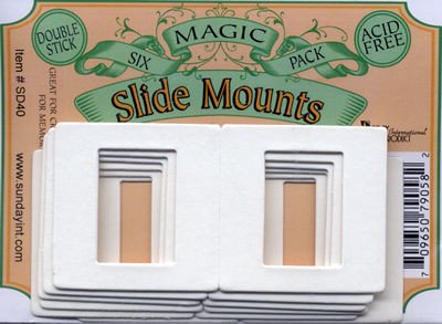 Slide Mounts - Pack of 6