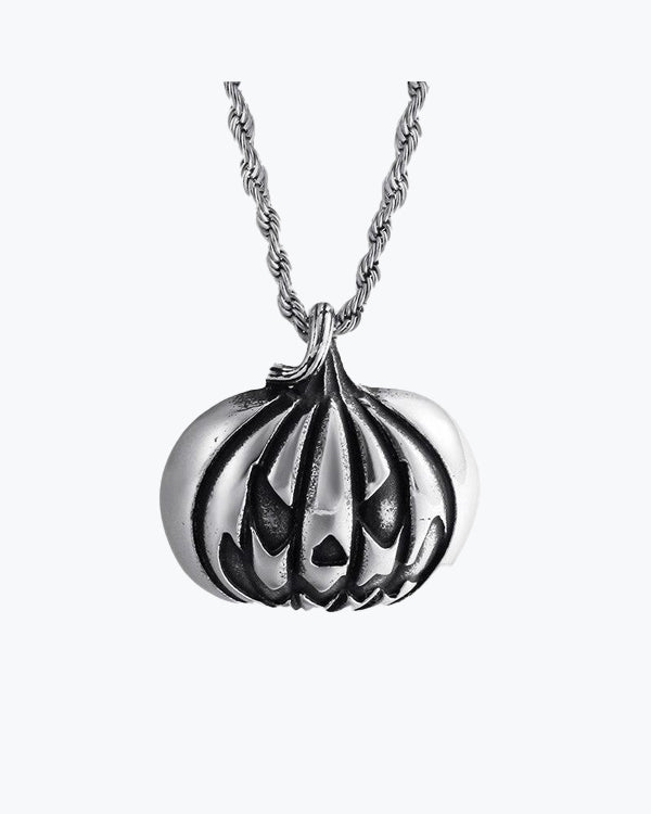 Pumpkin-Face Necklace