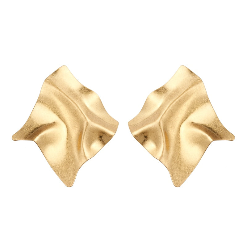Yhpup2020 Trendy Fashion Brand Irregular Twisted Charm Gold Stud Earring For Women Party Jewelry pendientes mujer moda 2019