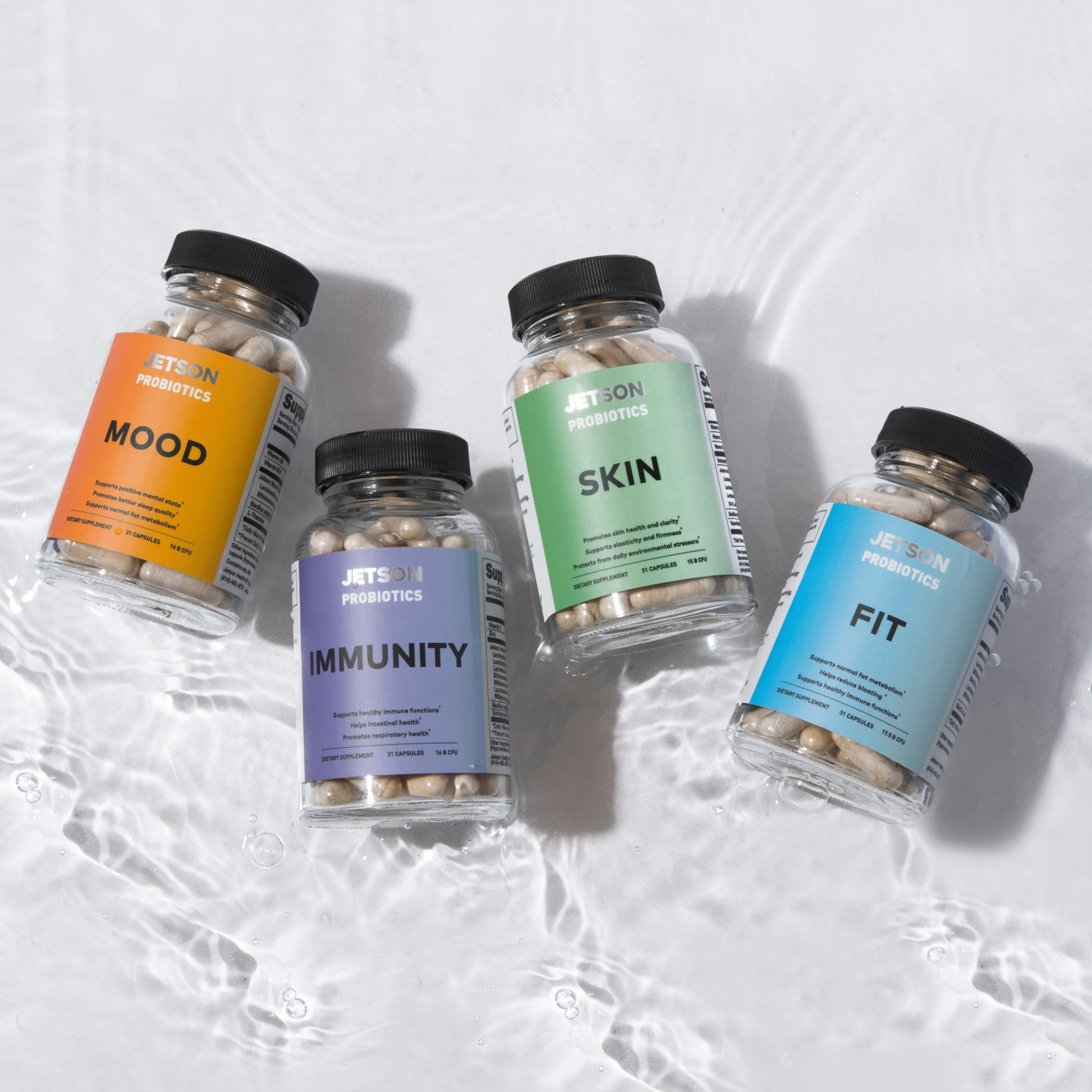 Our seasonal subscription rotates multi-strain formulations every 3 months, so your gut is as healthy as it should be year round. Our strains are chosen for common needs throughout the year, like strengthened immunity for winter and metabolism for summer.