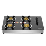 Sunshine Hob Top Four Burner Toughened Glass Gas Stove
