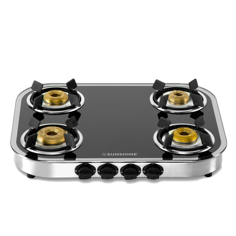 Sunshine Mirage Four Burner Toughened Glass Gas Stove
