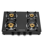 Sunshine Pulsar Four Burner Toughened Glass Gas Stove