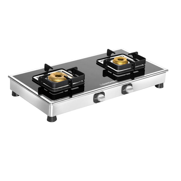 Sunshine Ten X 2 Burner Glass Top Gas Stove